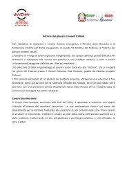 SCHEDA VETRINA.pdf - Festival Internazionale del Film di Roma