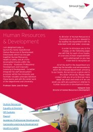 HR&D Newsletter October 2012 - Edinburgh Napier University