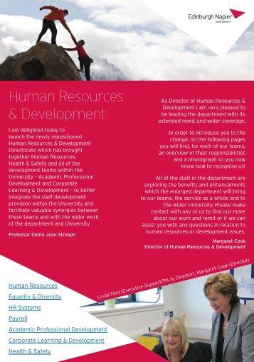 HR&D Newsletter October 2012 - Edinburgh Napier University