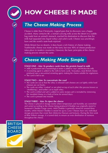 HOW CHEESE IS MADE - British Cheese Board