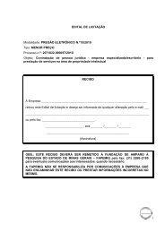 EDITAL DE LICITAÇÃO - Fapemig