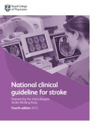 National Clinical Guidelines for Stroke - Royal College of Physicians