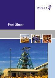 Fact Sheet - Impala Platinum