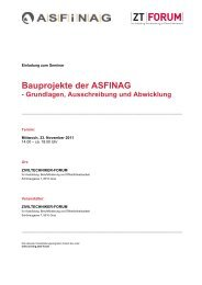 Bauprojekte der ASFINAG - Kammer der ZiviltechnikerInnen für ...