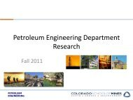 Researchers - petroleum engineering colorado school of mines