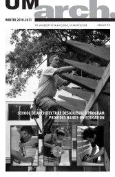 school of architecture design/build program provides hands