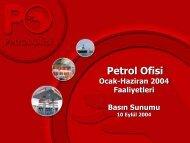 Yatırımlar - Petrol Ofisi