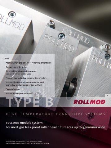 type b rollmod module system For inert gas leak ... - ROLLMOD GmbH