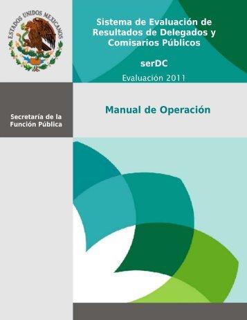 Manual de Operación - SFP | CGOVC | serOVC - Secretaría de la ...