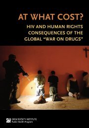 at what cost?: hiv and human rights consequences of ... - hivpolicy.org
