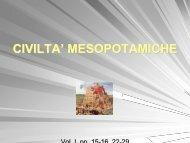 CIVILTA' MESOPOTAMICHE
