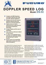 Model DS-50 DOPPLER SPEED LOG - Furuno