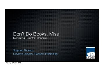 Dont Do Books_SHORT - Ransom Publishing