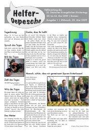Ausgabe 1 | Mittwoch, 20. Mai 2009 - Helfen 2013