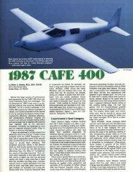 1987 CAFE 400 - CAFE Foundation
