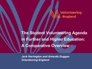 The Student Volunteering Agenda in Further Education and Higher ...