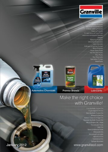 Lubricant - Granville Oil & Chemicals Ltd
