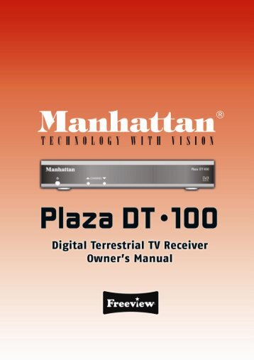 Plaza DT-100 User Guide - Manhattan