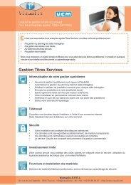 Gestion Titres Services - Visualis