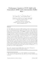 Performance Analysis of TCP/AQM with Generalized AIMD under ...