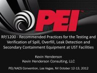 4. Tank Secondary Containment Integrity Testing - Petroleum ...