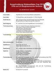 Ausschreibung - Westfälischer Tennisverband e.V., Tennisbezirk ...
