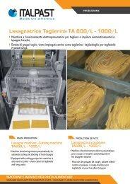 Lasagnatrice Taglierina TA 600/L - 1000/L - Italpast
