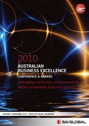 AUSTRALIAN BUSINESS ExCELLENCE - SAI Global
