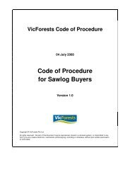 Code of Procedure for Sawlog Buyers - VicForests