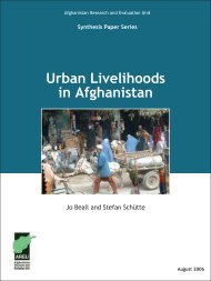 Urban Livelihoods in Afghanistan - the Afghanistan Research and ...