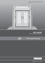 TSA 160 NT Planungsunterlage