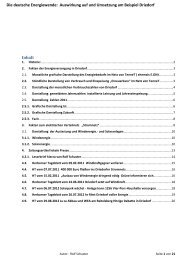 Auswirkung auf und Umsetzung am Beispiel Driedorf - BI-Knoten