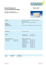 Sicherheitsleuchte für Zentralbatterieanlagen ... - Pfrommer GmbH