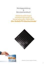 Die SolteQ-PV-Dachschindel