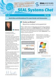 SEAL Systems Chat 38 - Kundenzeitschrift - SEAL Systems AG