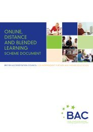 Online, distance and blended learning accreditation scheme ... - BAC