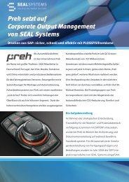 Preh setzt auf Corporate Output Management von SEAL Systems