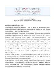 ARCHIVIO STORICO DEL MUGGIANO - Culture e impresa