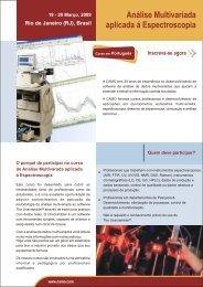 Análise Multivariada aplicada á Espectroscopia Rio de ... - Camo