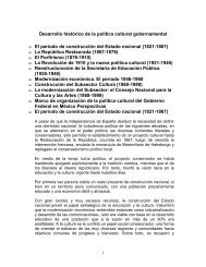 Desarrollo histórico de la política cultural gubernamental El período ...