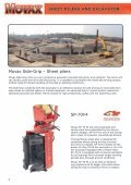 sheet pilers and excavator - Movax - Page 2