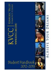 Student Handbook 2012-13 - Kennebec Valley Community College