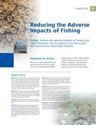 Reducing the Adverse Impacts of Fishing - NOAA Coral Reef ...