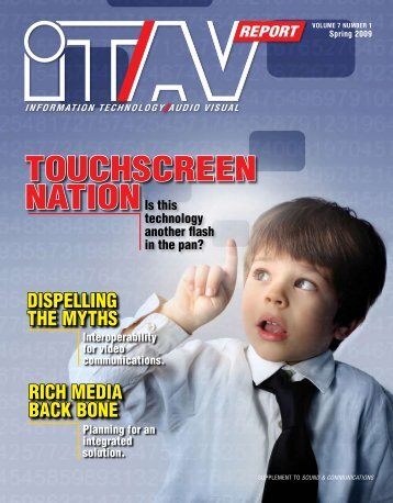 Sound & Communications ITAV Report Spring 2009