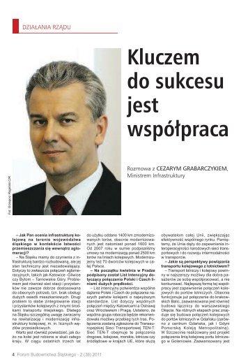 Kluczem do sukcesu jest współpraca - Śląska Izba Budownictwa