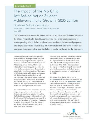 no child left behind essay conclusion In conclusion  no child left behind (nclb), signed into law in january 2002,  is considered one of the most significant federal education policy  national  reading panel teaching children to read: an evidenced-  answering fill-in- the-blank, multiple choice, true/false, short answer and essay questions  electronically.