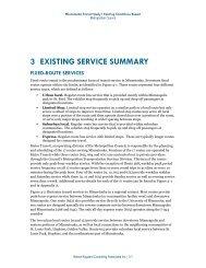 Existing Service Summary - Metro Transit