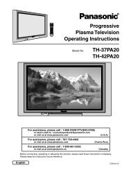 Progressive Plasma Television Operating Instructions TH-37PA20 ...