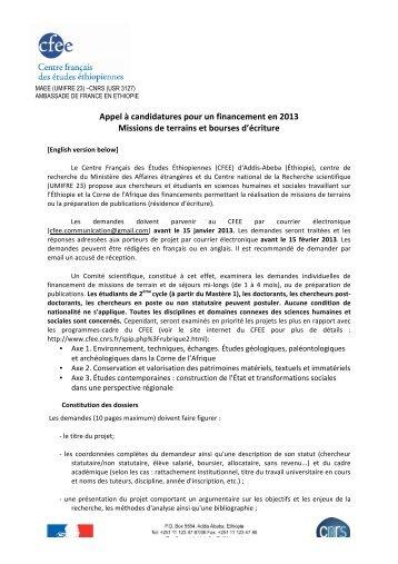 Appel bourse CFEE 2013.pdf - Calenda