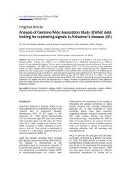 Original Article Analysis of Genome-Wide Association Study (GWAS ...